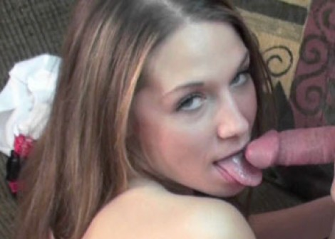 Horny college girl Lina blows Logan
