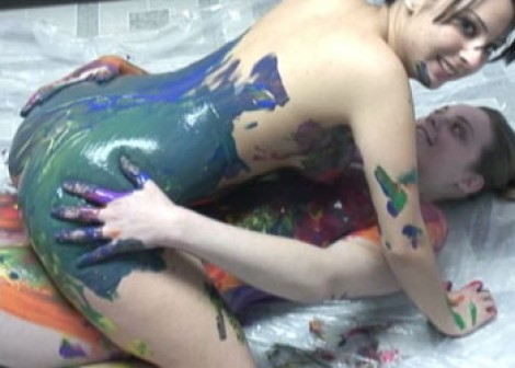 Body painting with Danni & Cristal